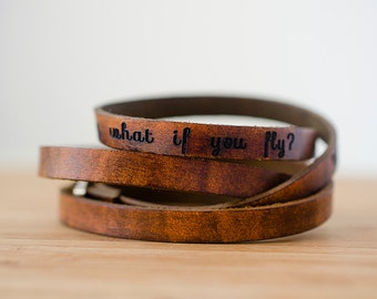 Personalized Leather Wrap Bracelet