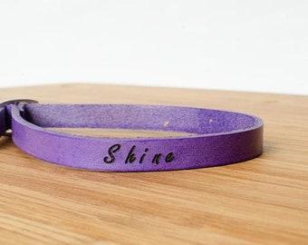 Shine Single Wrap Leather Bracelet