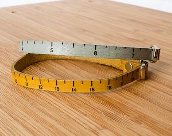 Inch Ruler Custom Adjustable Leather Bracelet