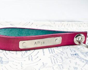 Custom Personalized Leather Key Chain Accessory, Anniversary Gift, Custom Keychain, Wedding Gift