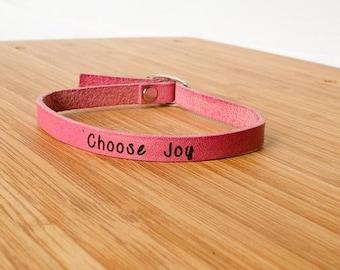 Choose Joy - Single Wrap Bracelet