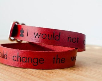 Autism Support Custom Leather Wrap Bracelet