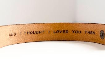 "1"" Secret Message Leather Cuff"