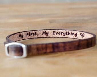 My first, my everything- Single Wrap Leather Bracelet