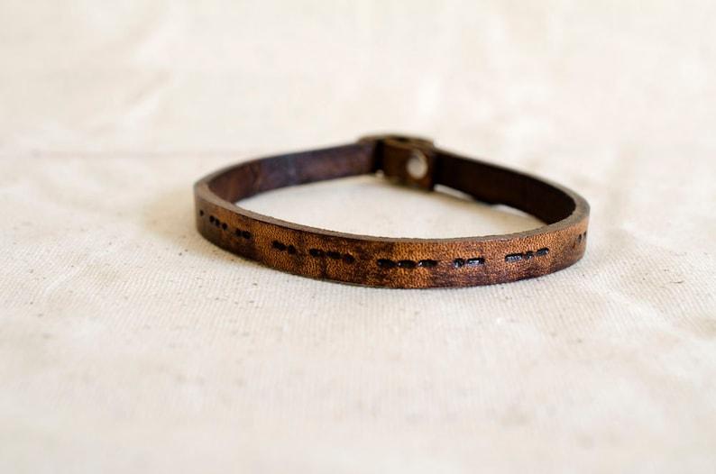 Morse Code Bracelet image 0
