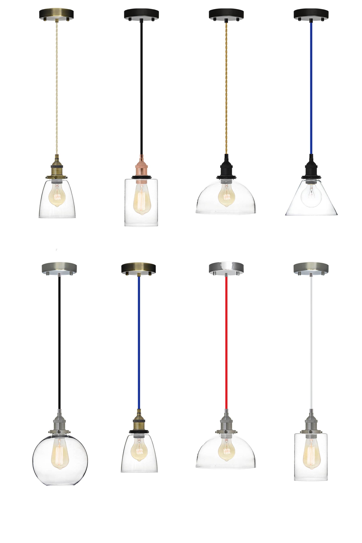 Lampenschirm aus Glas Anhänger Edison antike Lampe Küche Insel | Etsy