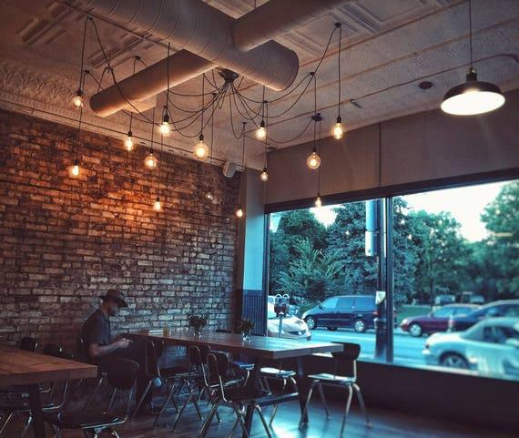 Urban Loft Industrial Chandelier 22 Light Shades of Light