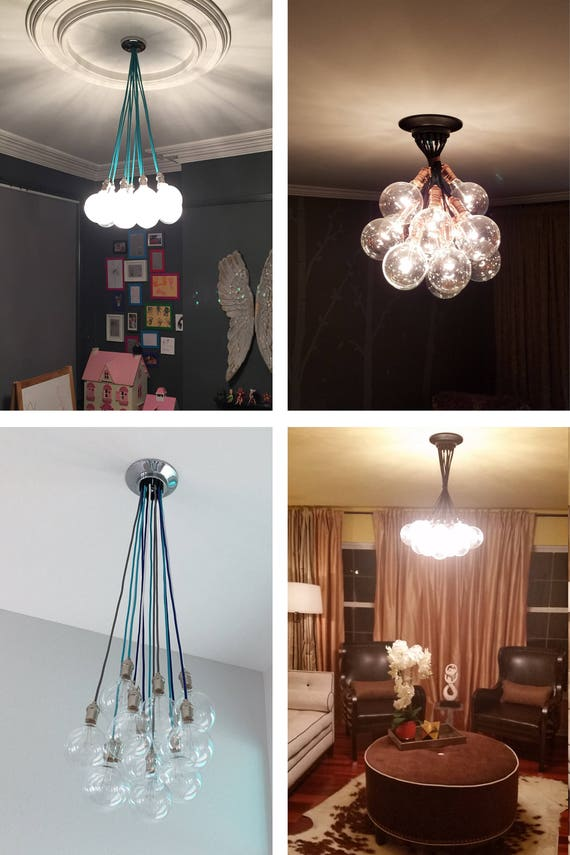 colorful chandelier lighting carnival glass image 14 glass globe bubble chandelier pendant cluster custom any etsy