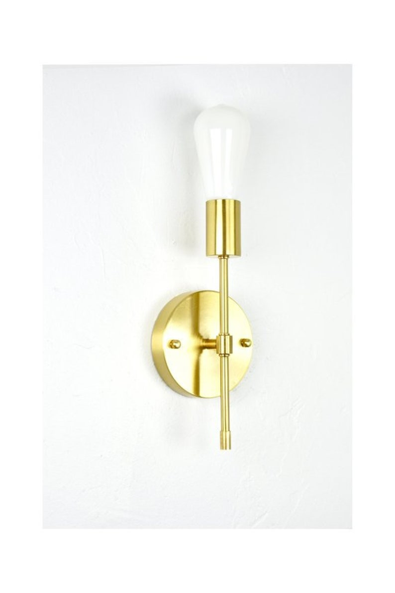 Brass Torch Wall Sconce Single Lamp Wall Fixture Vanity Etsy