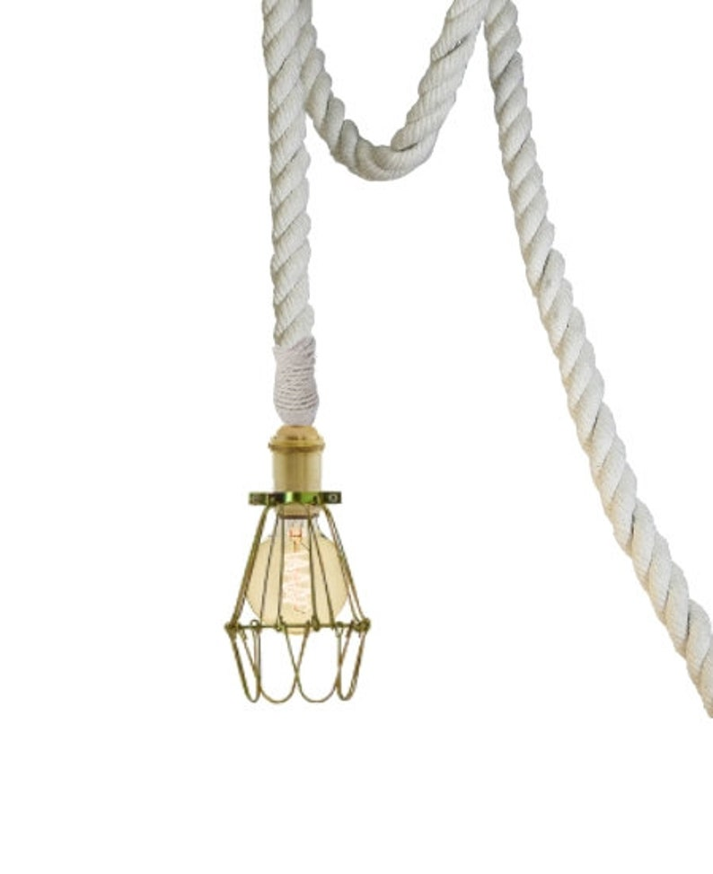 Rope Cage Pendant Light