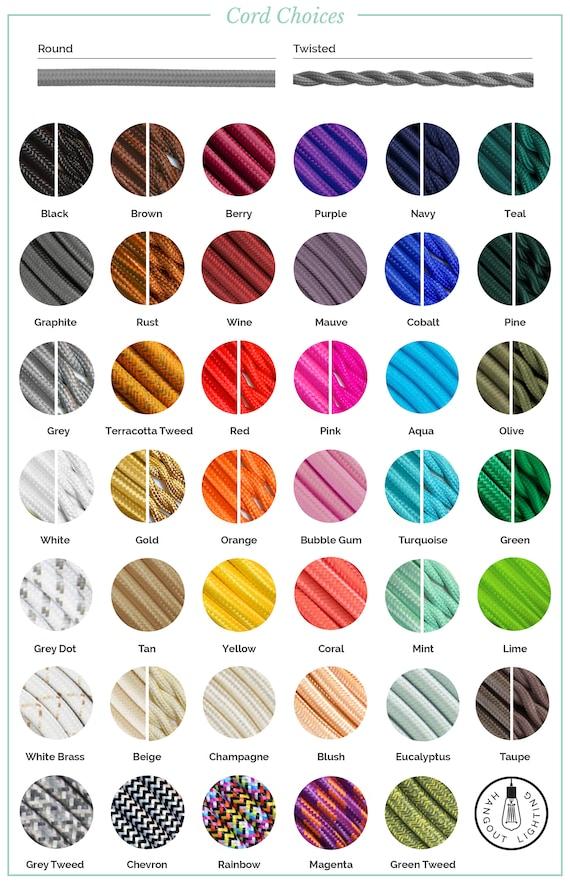 Sample Pack Alle Farben Anhanger Licht Schnur Tuch Lampe Etsy