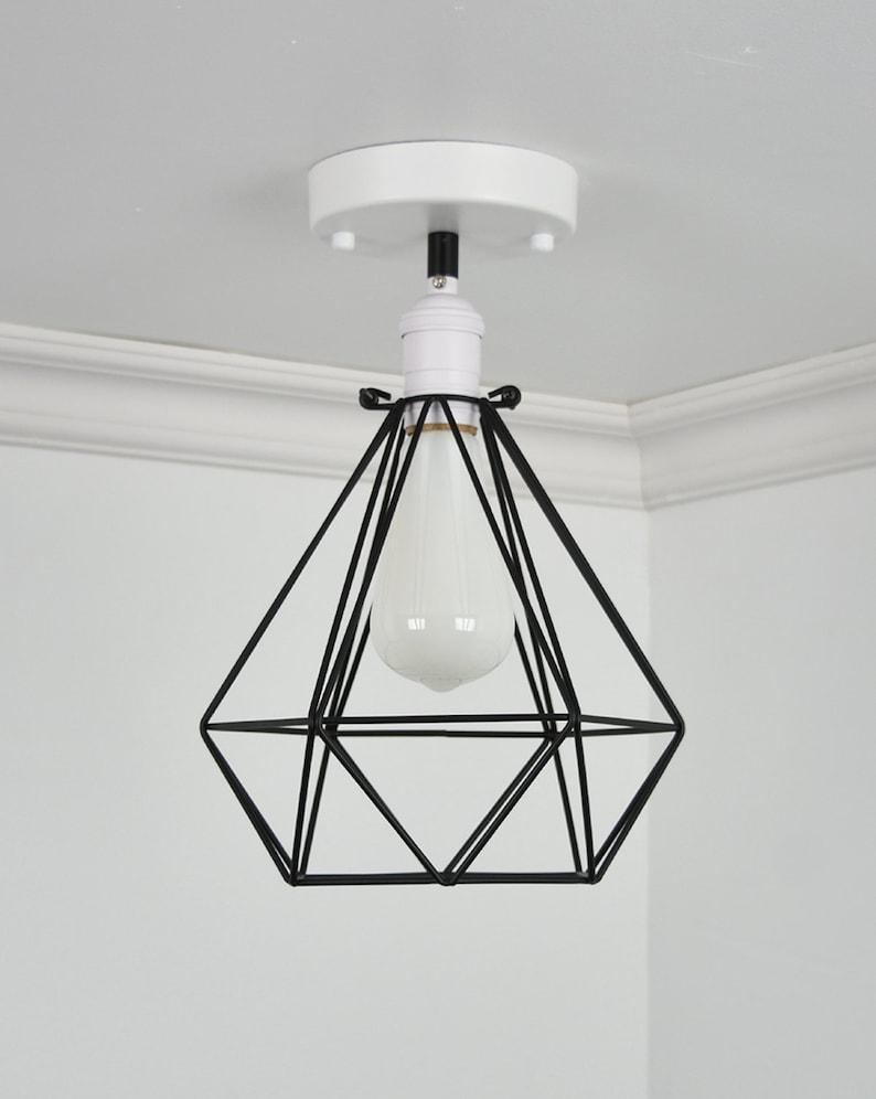 9f579a3d0697 Diamond Cage Flush Mount Modern Ceiling Lighting Semi Flush