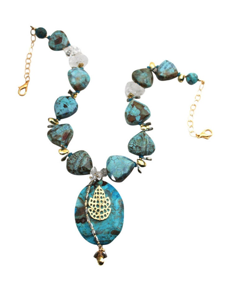 Ocean Jasper Stone Necklace Women's One of a Kind image 0