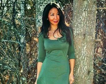 Green Dress (high quality organic cotton)