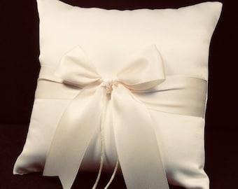 Ivory or White Wedding Ring Bearer Pillow - Fast & Free Shipping Rhinestone Crystal Option