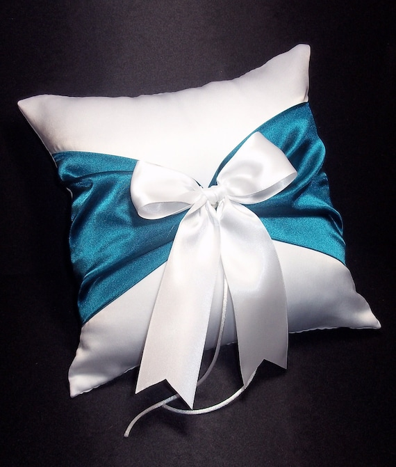 Navy Blue /& Yellow Ring Bearer Pillow 250 Custom Colors Available White or Ivory Wedding