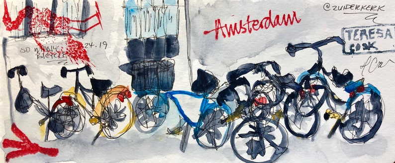 So Many Bicycles-Print image 0
