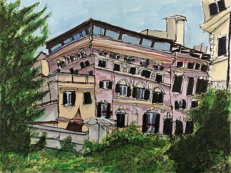 Pink Rome-Print image 0