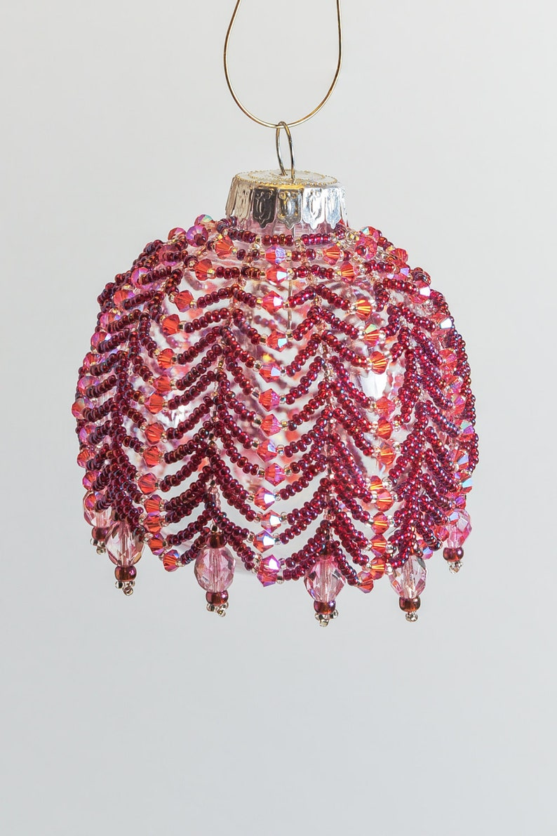Beaded Ornament Cover 219