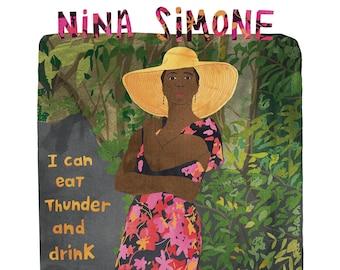 Nina Simone Illustration, Nina Simone Print, Feminist print, Feminist poster