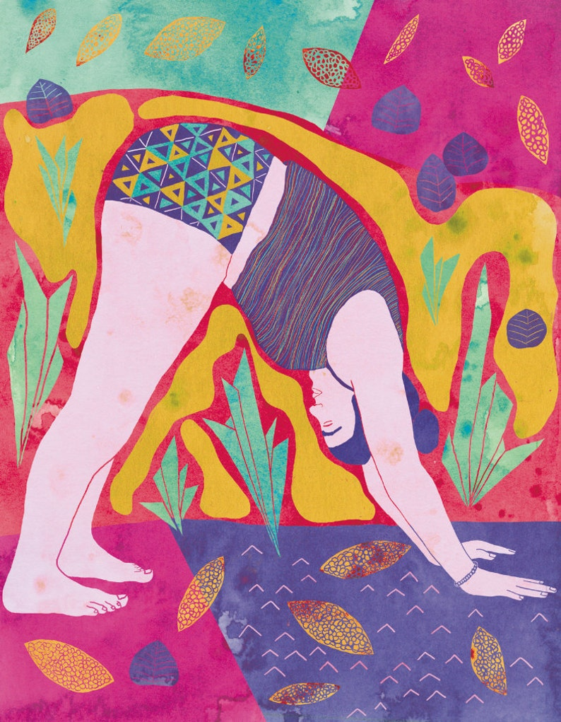 Poster yoga Yoga Illustration Yoga pose Dog pose yoga image 0