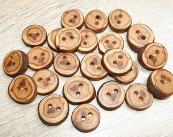 20pcs Lovely Girl Mixed Colors Two Holes DIY Wooden Sewing Buttons 30x23mm