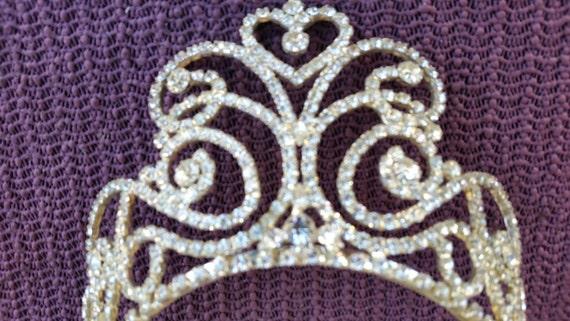 TIARA Rhinestones Wedding Tiara unsigned  vintage