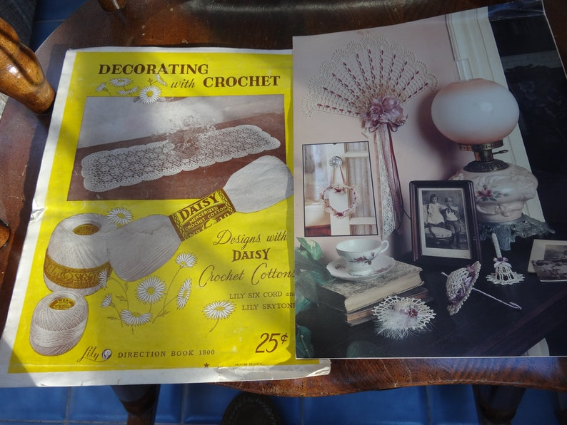 2 Crochet Design Books-Decorating with crochet and Victorian