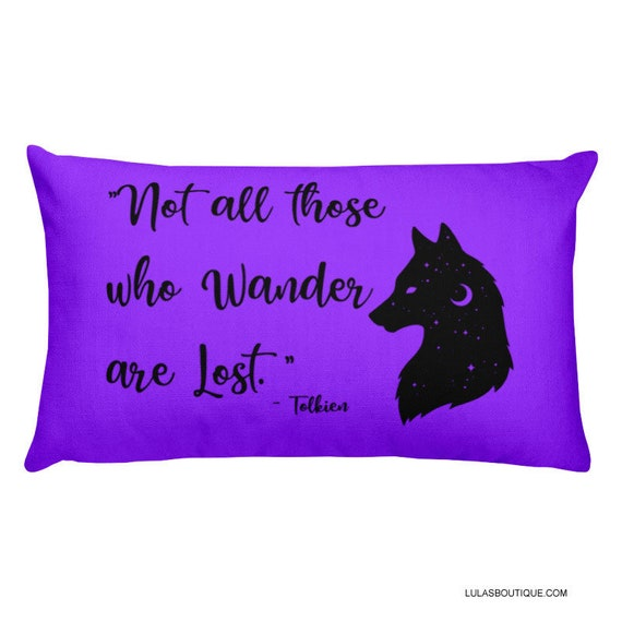 Not All Those Who Wander Premium Pillow