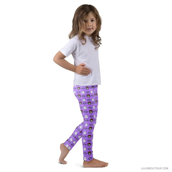 Zombie Girl with Owl & Cat Ghost Kid's leggings