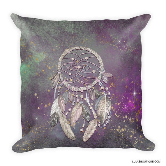Dreamcatcher Lavender Galaxy 18 Inch Premium Pillow