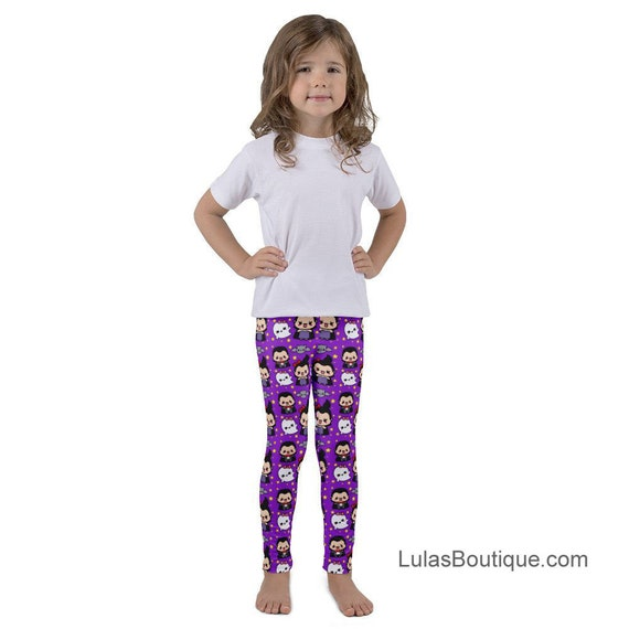 Spooky Cute Vampire Bat & Ghost Kid's leggings