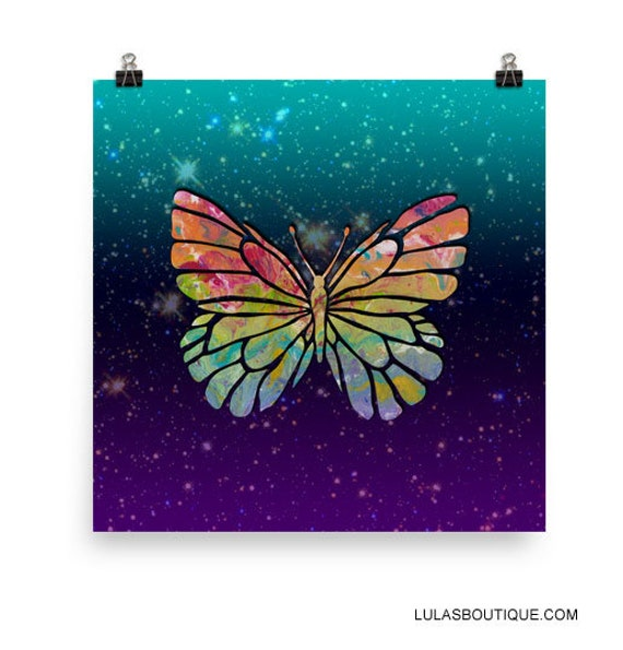 Cosmic Butterfly Wall Print