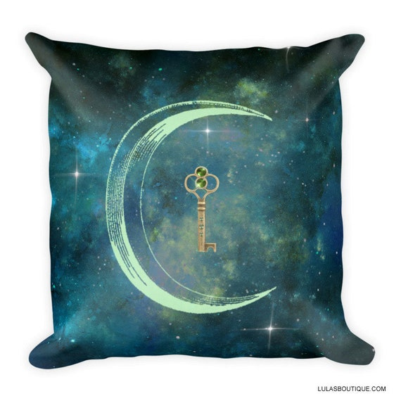 Magic Moon Key Galaxy 18 Inch Premium Pillow