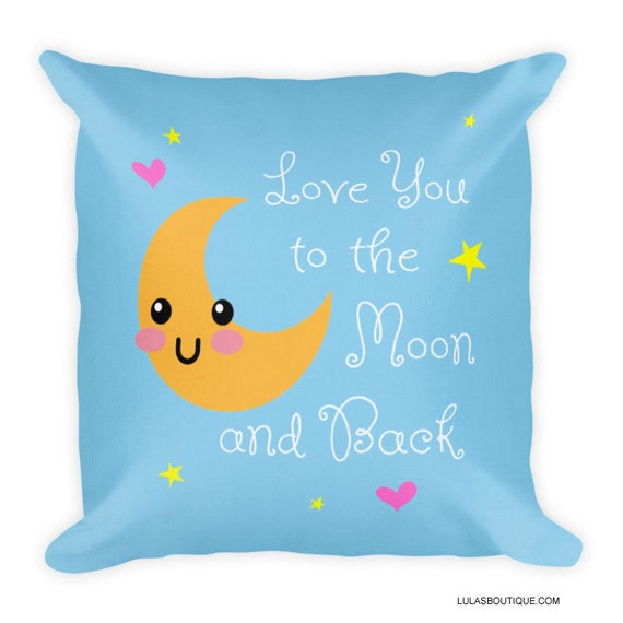 Love You To The Moon Kawaii Premium Pillow
