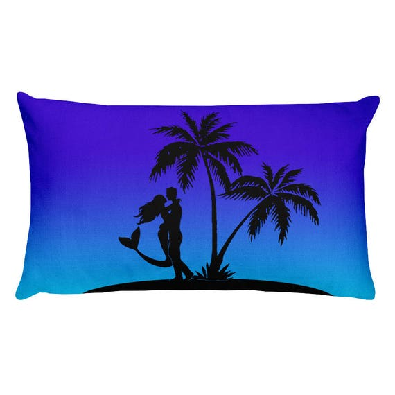 Mermaid Kiss Rectangular Pillow