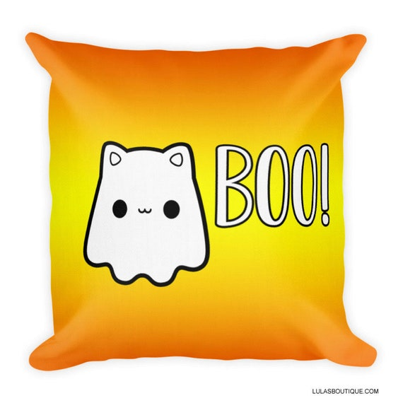 Cat Ghost Boo Premium Pillow