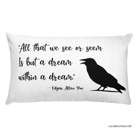 Poe Raven Quote Premium Pillow