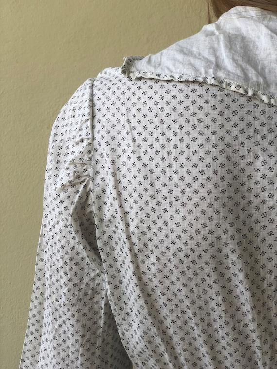Antique Cotton Dress / 1910's Cotton Workwear Dre… - image 4