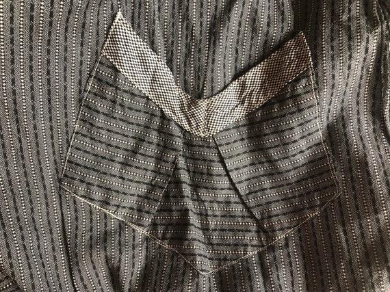 Antique Chore Dress / 1910's Cotton Workwear Tuni… - image 9