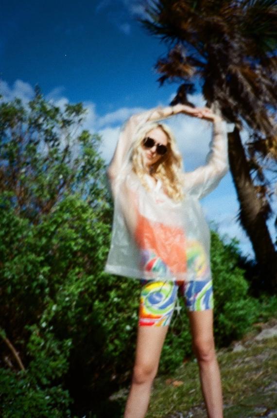 1980's Swimsuit / Little Orange Polka Dot Teensy B