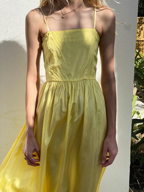 1940's Taffeta Dress / Sleeveless Evening Party D… - image 3