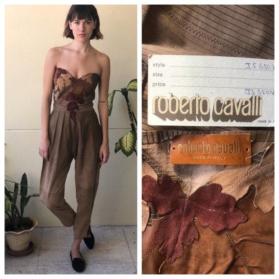 1970's Roberto Cavalli Jumpsuit / Metallic Stitche