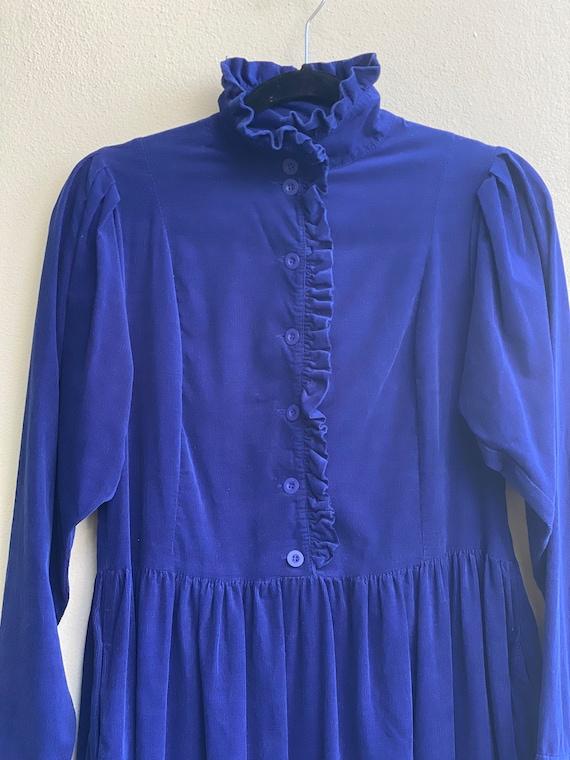 Vintage High Neckline Dress / Laura Ashley Dress … - image 5