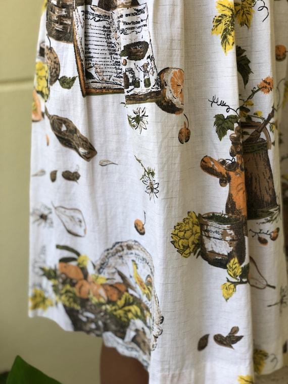 50s Novelty Dress / Rare Novelty Print / Fifties … - image 3