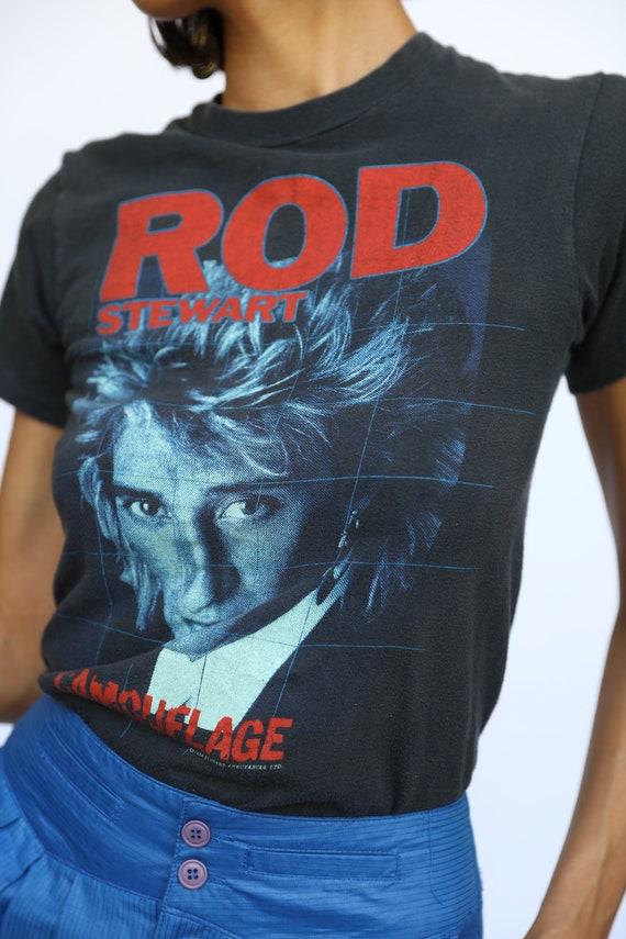 Vintage Rod Stewart Tshirt / Tour Rock Tee / Conc… - image 3