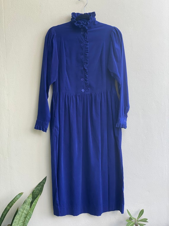 Vintage High Neckline Dress / Laura Ashley Dress … - image 7