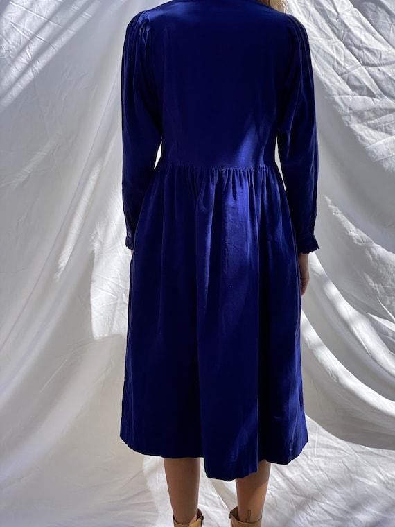 Vintage High Neckline Dress / Laura Ashley Dress … - image 8