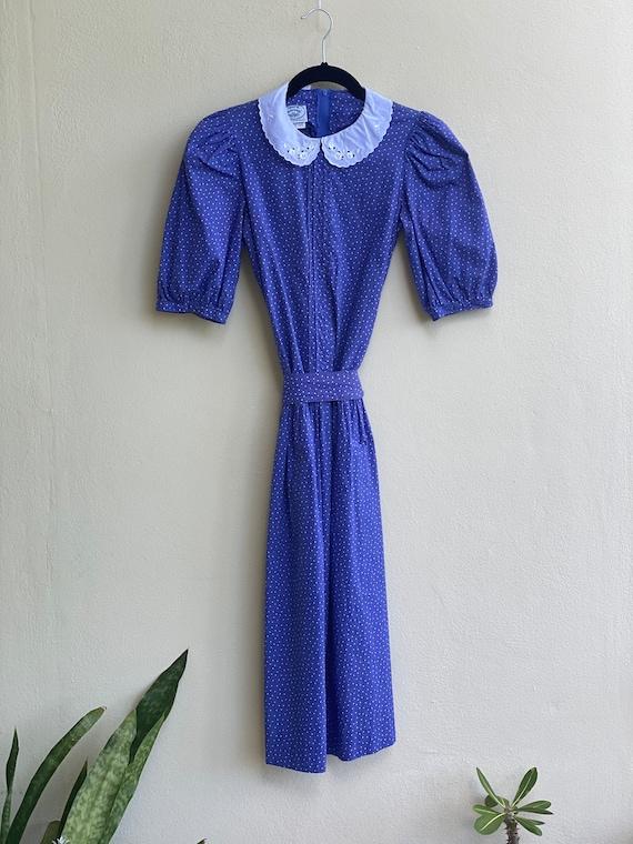 Drop Waist 90's Dress / Laura Ashley Dress / Puff… - image 6