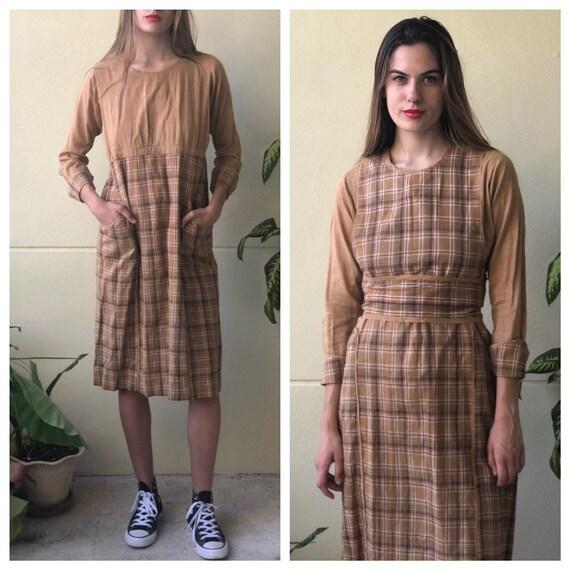 Antique Chore Dress / 1910's Cotton Workwear Tunic